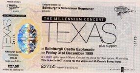 Ticket Edinburgh 31/12/99
