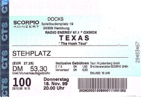 Ticket Hamburg 1999