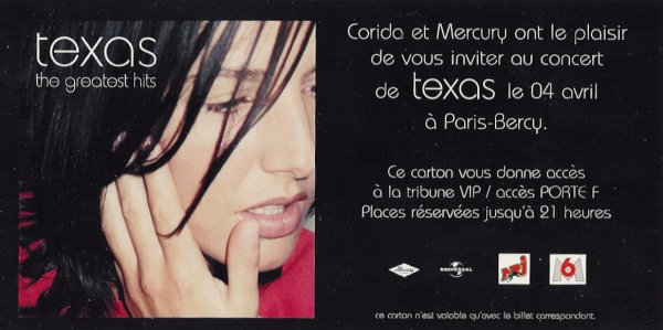 Invitation Paris Bercy 2001