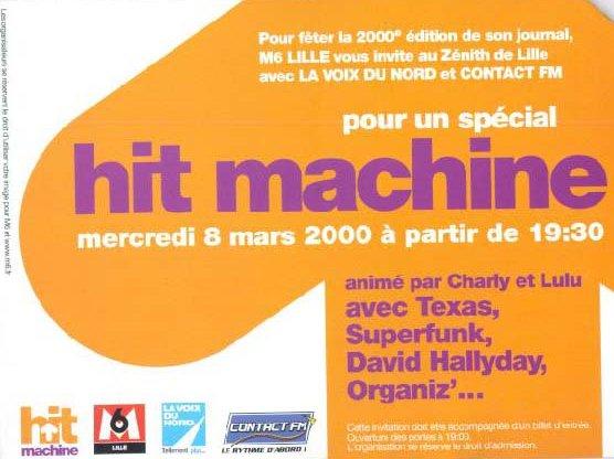 Invit Hit Machine verso