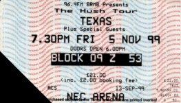 Ticket Birmingham 5/11/99