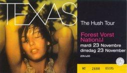 Ticket Bruxelles 23/11/99