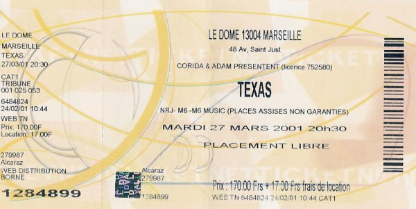 Ticket Marseille 2001