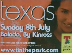 T In The Park 2001 Poster