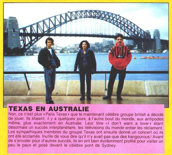 Texas in Sydney 89